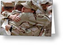 A Chief Master Sergeant Consoles Greeting Card by Stocktrek Images