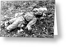 A Chinese Soldier Killed Greeting Card