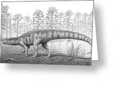 A Chirotherium Roams A Prehistoric Era Greeting Card