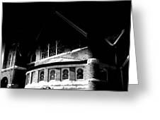A Church On A Dark Night Greeting Card