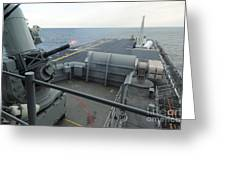 A Close-in Weapons System Fires Aboard Greeting Card
