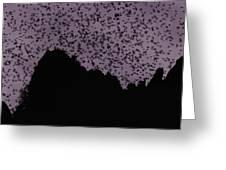 A Cloud Of Bats Fills The Twilight Sky Greeting Card