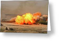 A Cloud Of Dust And Debris Rises Greeting Card