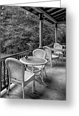 A Cloudy Day On The Porch Greeting Card