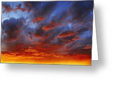 A Cloudy Sunset Greeting Card