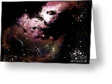 A Cluster Of Bright Young Stars Tear Greeting Card