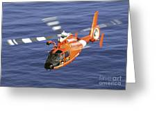 A Coast Guard Hh-65a Dolphin Rescue Greeting Card by Stocktrek Images