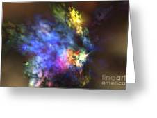 A Colorful Nebula In The Universe Greeting Card