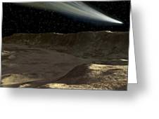 A Comet Passes Over The Surface Greeting Card