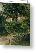 A Corner Of The Garden In Rueil Greeting Card
