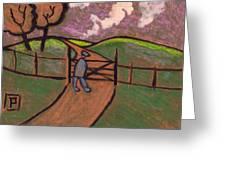 A Country Walk Greeting Card