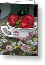 A Cup Of Strawberries Greeting Card