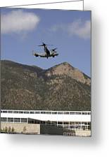 A Cv-22 Osprey Flies Over The 2007 Greeting Card