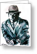 A Dapper Brit-portrait Of Ron Moody Greeting Card