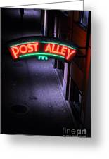 A Dark And Lonely Post Alley - Seattle  Greeting Card