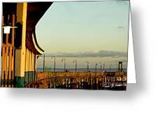 Playland Rye Beach Pier Greeting Card