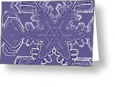 A Dendritic Snowflake Greeting Card