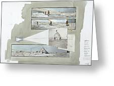 A Diagram Examines Photographs Greeting Card by Richard Schlecht