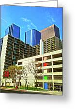 A Different Perspective On Downtown Los Angeles I Greeting Card