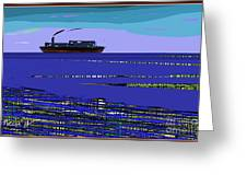 A Distant Ship Greeting Card