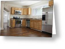A Domestic Kitchen Interior Greeting Card