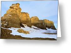 A Dusting On Monument Rocks Greeting Card