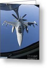 A Dutch F-16am Conducts In-flight Greeting Card