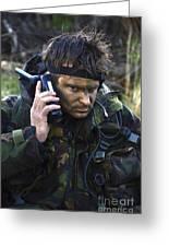 A Dutch Patrol Commander Communicates Greeting Card