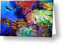 A Flash Of Life And Color Greeting Card