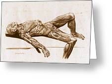 A Flayed Cadaver Greeting Card