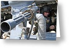A Flight Engineer Prepares Greeting Card