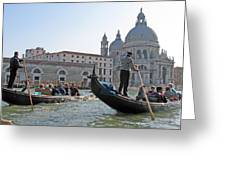 A Float In Venice Greeting Card