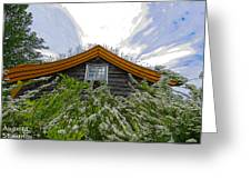 A Flowery House In Norway Greeting Card