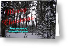 A Forest Christmas Greeting Card