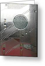A Frosted Glass Window With An Interesting Pattern Greeting Card