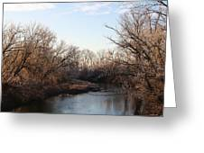 A Frosty Morning On The Elkorn Creek Greeting Card