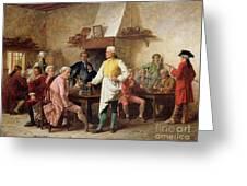 A Gentleman's Debate Greeting Card by Benjamin Eugene Fichel