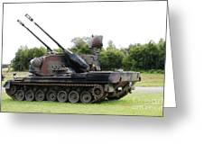 A Gepard Anti-aircraft Tank Greeting Card by Luc De Jaeger