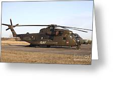 A German Ch-53gs Helicopter At Stendal Greeting Card