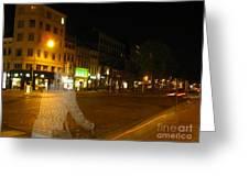 A Ghost Of Antwerp. Belgium. Greeting Card