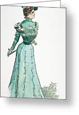 A Gibson Girl, 1899 Greeting Card