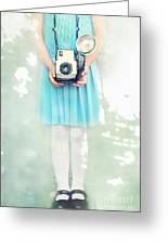 A Girl And Her Camera Greeting Card by Stephanie Frey