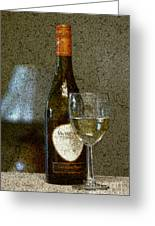 A Glass For Dinner Greeting Card