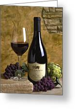 A Glass Of Pinot Greeting Card