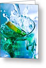 A Glass Of Water Greeting Card by MrsRedhead Olga