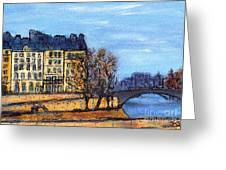 A Glimpse Of Paris No 3 Greeting Card