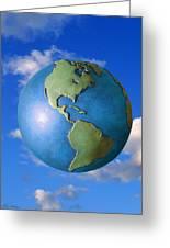 A Globe In The Sky Greeting Card