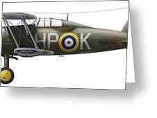 A Gloster Gladiator Mk II Greeting Card by Chris Sandham-Bailey