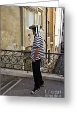 A Gondolier In Venice Greeting Card