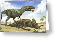 A Gorgosaurus Libratus Stands Greeting Card